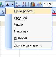 Работа в программе MS Excel